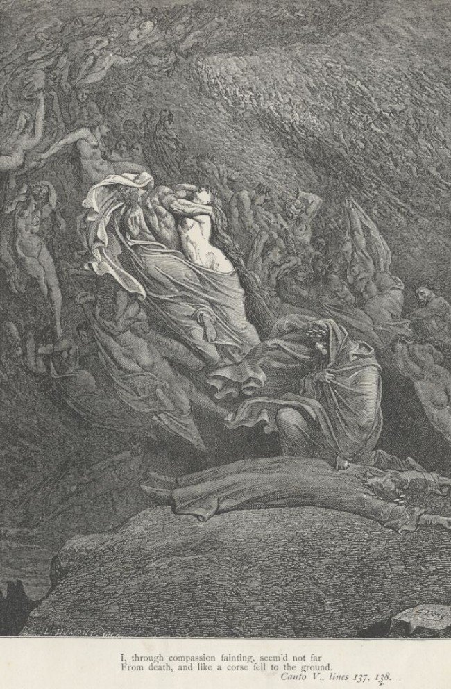 gustave-dore-dante-alighieri-divine-comedy-the-vision-of-hell-the-inferno-canto-v-5- lines-137-138-sentence-perfection-through-disfunction