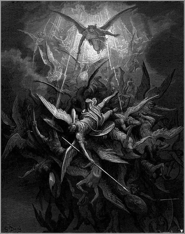 gustave-dore-milton-paradise-lost-michael-casts-out-all-of-the-fallen-angels-book-I-lines-344-345