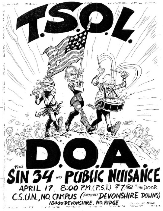 1982-04-17-Tsol-DOA-Sin34-Public-Nuisance-CSUN-Campus-North-Ridge-Shawn-kerri