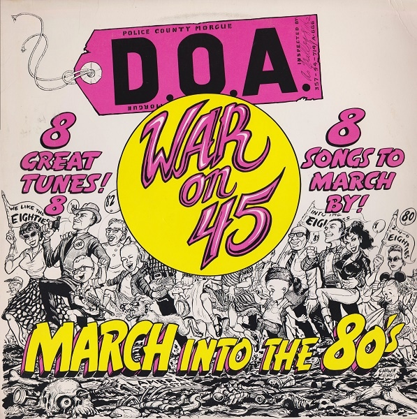 1982-doa-war-on-45-march-into-the-80-front-cover-shawn-kerri