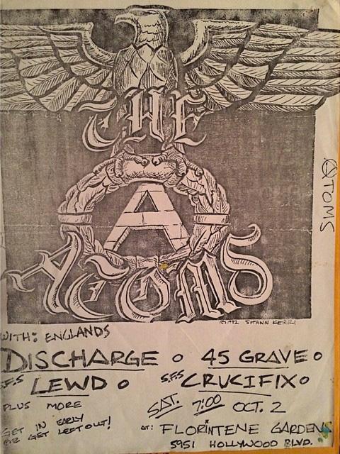 1982-10-02-Atoms-Discharge-45-grave-Lewd-crucifix-florentine-gardens-shawn-kerri