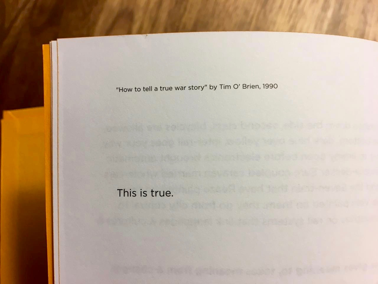 commentary how to tell true war story essay